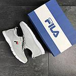 Чоловічі кросівки Fila (світло-сірі), фото 3