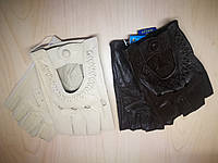 Женские кожаные перчатки без пальцев