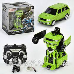Машина-трансформер  на радиоуправлении, салатовый, детская игрушка для мальчиков