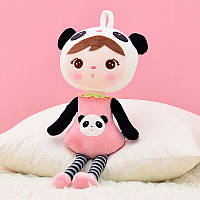 Мягкая игрушка велюровая кукла в костюме панды, 46см