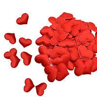 Сердечки мягкие для декора, свадебное конфети из сердечек, романтическая атмосфера 100 шт. GS807