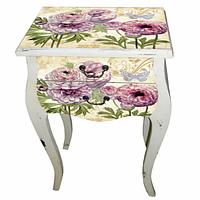 Столик Цветы 740-006 (79,5 х 51 х 30 см) Код:50636
