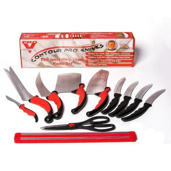Набор ножей КОНТУР ПРО (Contour Pro Knives)+РЕЙКА  в подарок As seen On TV