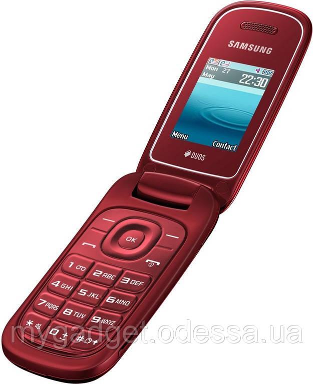 """Мобильный телефон Samsung GT-E1272 Красный 2 SIM/800mAh/1.77 """""""