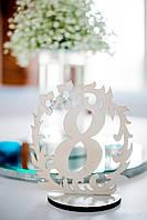 Стеклянные колбы с подсветкой и цветочной композицией , фото 1