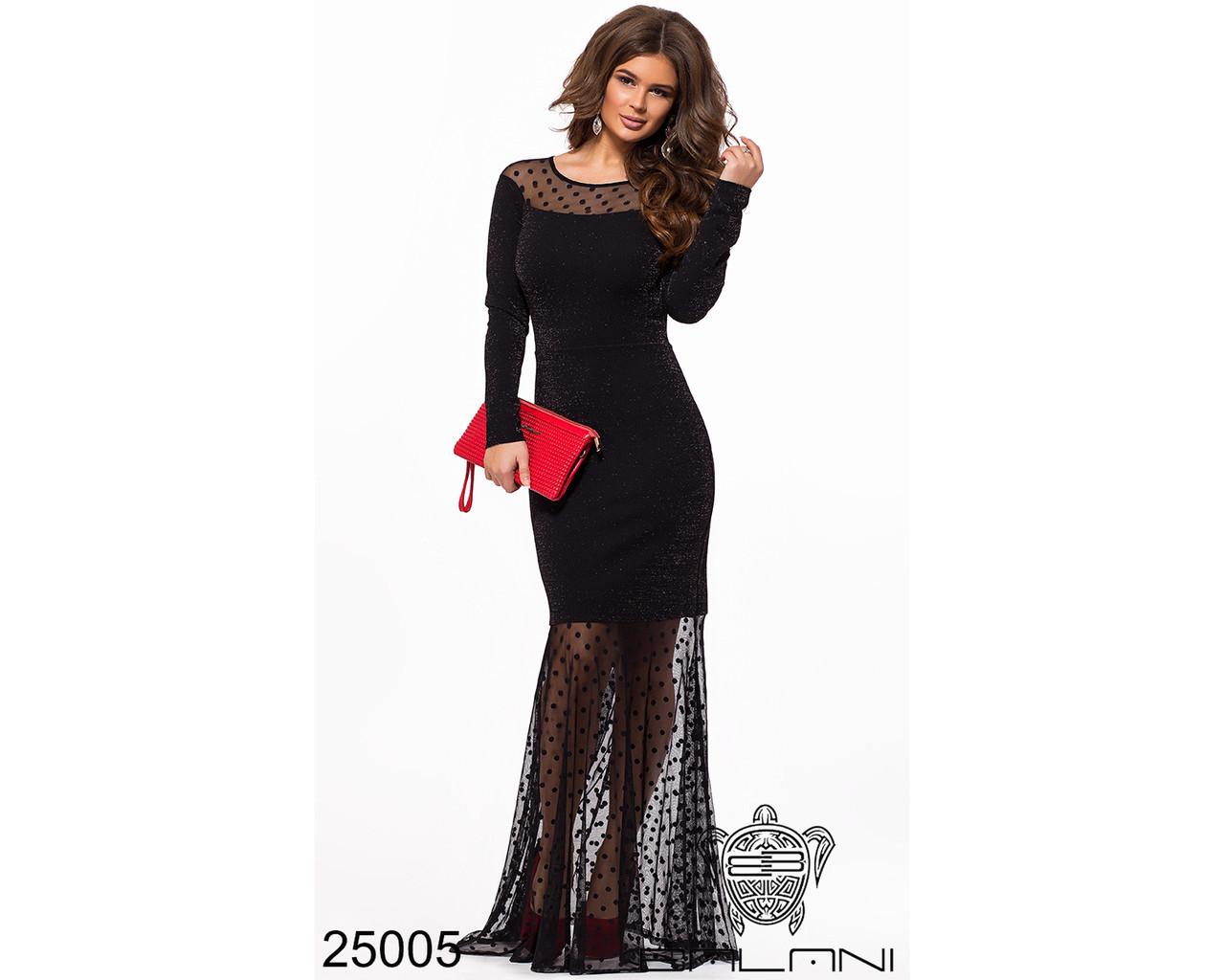 ff01d50a0a3 Черное вечернее платье в пол с длинным рукавом - Интернет магазин  «miss-podium»