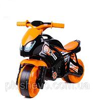 Детский толокар Мотоцикл черно-оранжевый
