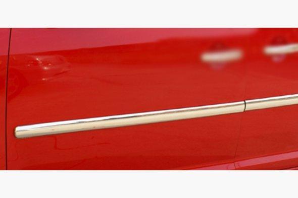 Молдинг дверной (4 шт, нерж) Volkswagen Caddy 2010-2015 гг.