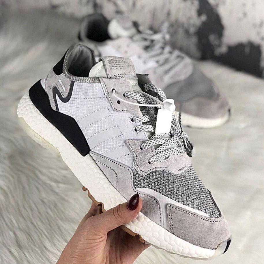 7625d03e Женские кроссовки в стиле Adidas Nite Jogger Crystal White -  Интернет-магазин