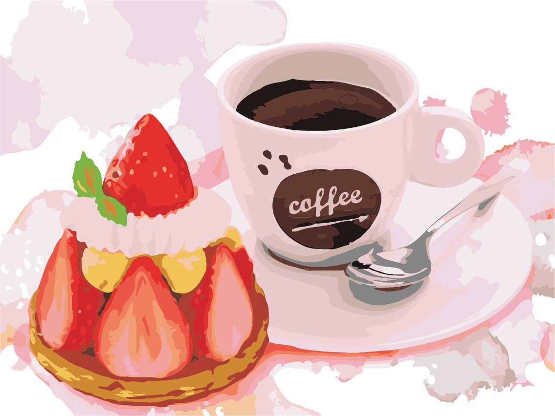 Картина по номерам (AS0490) Клубничный десерт 30 х 40 см