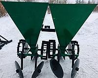 Картофелесажалка двухрядная ШИП 2х60 л (цепная) для мототрактора, фото 1
