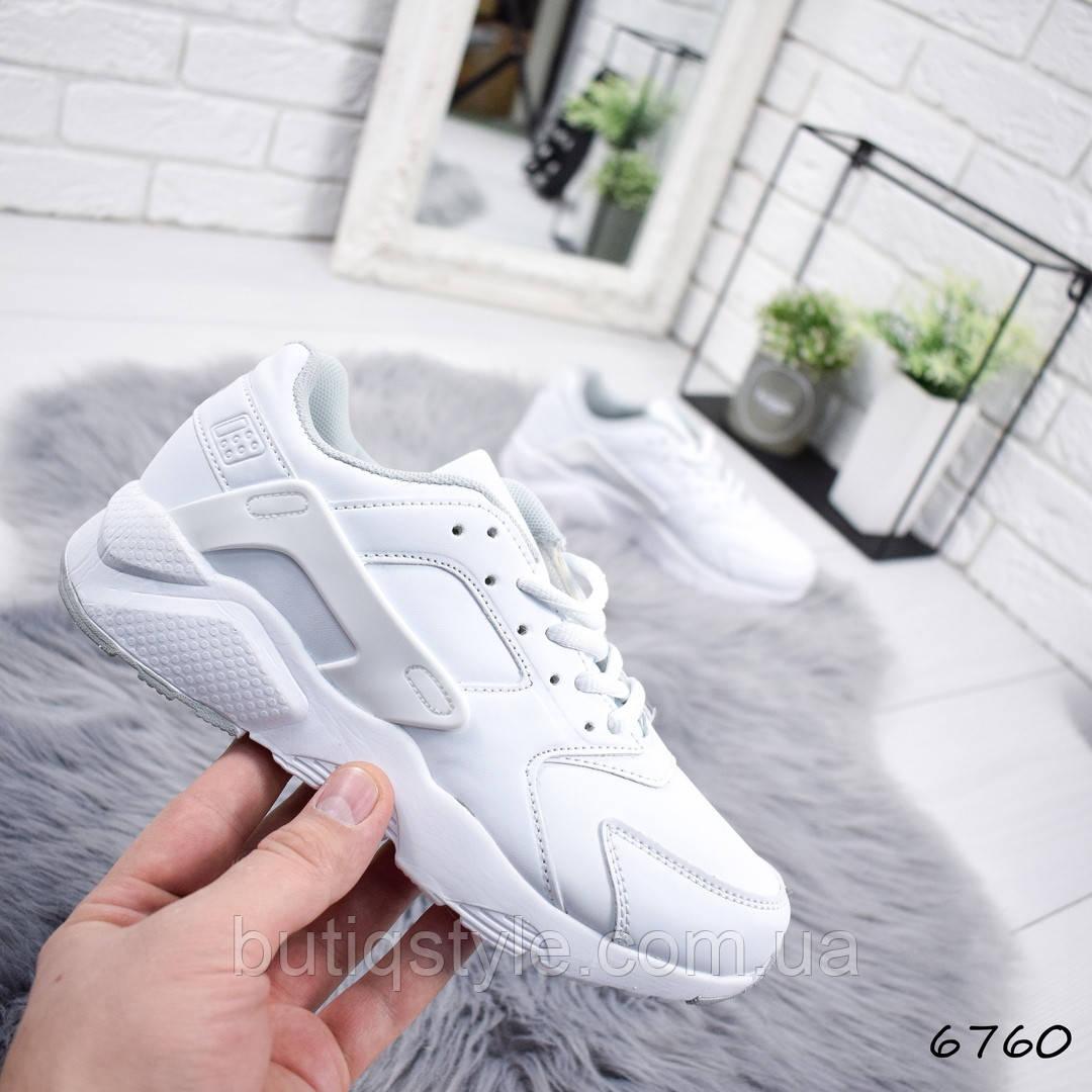 36 размер 23 см! Женские белые кроссовки  на танкетке, эко-кожа
