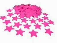Конфетти звезды розовые 3,5х3,5 см 50 г/упак. полипропилен