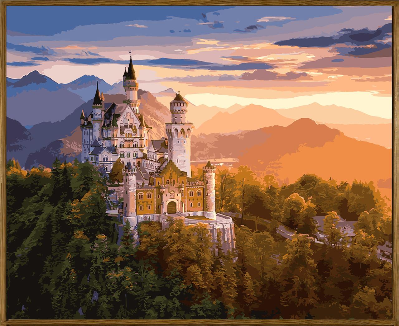 Картина по номерам (NB908R) Замок в лучах заката 40 х 50 см