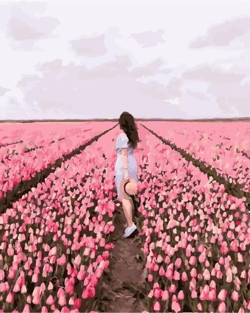 Картина по номерам (PGX25362) Тюльпановое поле (40 х 50 см)