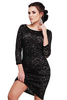 Черное вечернее платье гипюровое