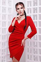 Элегантное красное платье женское