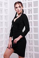 Женское черное платье в клубном стиле
