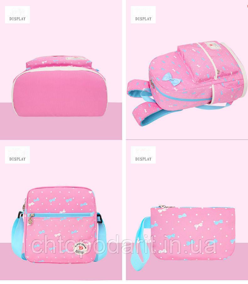 bee69be3dbb9 Рюкзак для маленьких принцесс + в подарок сумка на плече и кошелек. (нежно-