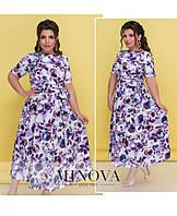 0465e2427d3 Платье-миди на запах с короткими рукавами и расклешенным подолом (размеры  50-56)