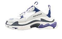 Женские кроссовки Balenciaga Triple S White/Blue/Violet