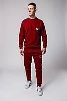 Спортивный костюм мужской, весенний, осенний в стиле Fila красный