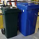 Мусорный бак пластиковый. Бак для мусора. Мусорный контейнер. 240 л. Качество!!!, фото 2