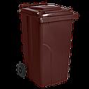 Мусорный бак пластиковый. Бак для мусора. Мусорный контейнер. 240 л.  Качество!!!  , фото 7