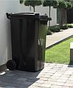 Мусорный бак пластиковый. Бак для мусора. Мусорный контейнер. 240 л. Качество!!!, фото 9