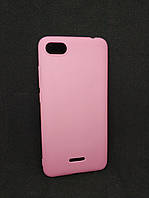 Силиконовый чехол бампер для Xiaomi Redmi 6a Candy case Розовый