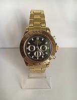Мужские наручные часы Rolex (Ролекс), золотисто-черный цвет ( код: IBW186YB )
