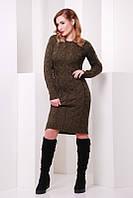 Женское стильное вязанное платье