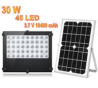 Светильник на солнечной батарее 30W 45LED с датчиком освещенности BT-F500 10400mAh, фото 1