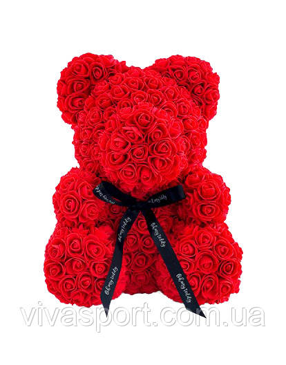 Цветочный мишка, подарочный мишка из роз