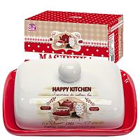 """Масленка керамическая """"Happy Kitchen"""" 3397-11 (размер: 13*17; h-5,5)"""