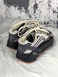 Женские кроссовки Adidas X Kanye West yeezy 700 v2 grey.  Живое фото. (Реплика ААА+), фото 3