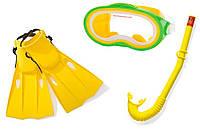 Набор для плавания 38-40 р желтый (маска, трубка, ласты)