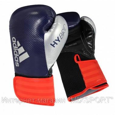 Боксерские перчатки Hybrid | Цвет синий, красный, серебряный  adiH65