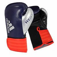 Боксерские перчатки Hybrid | Цвет синий, красный, серебряный  adiH65, фото 1
