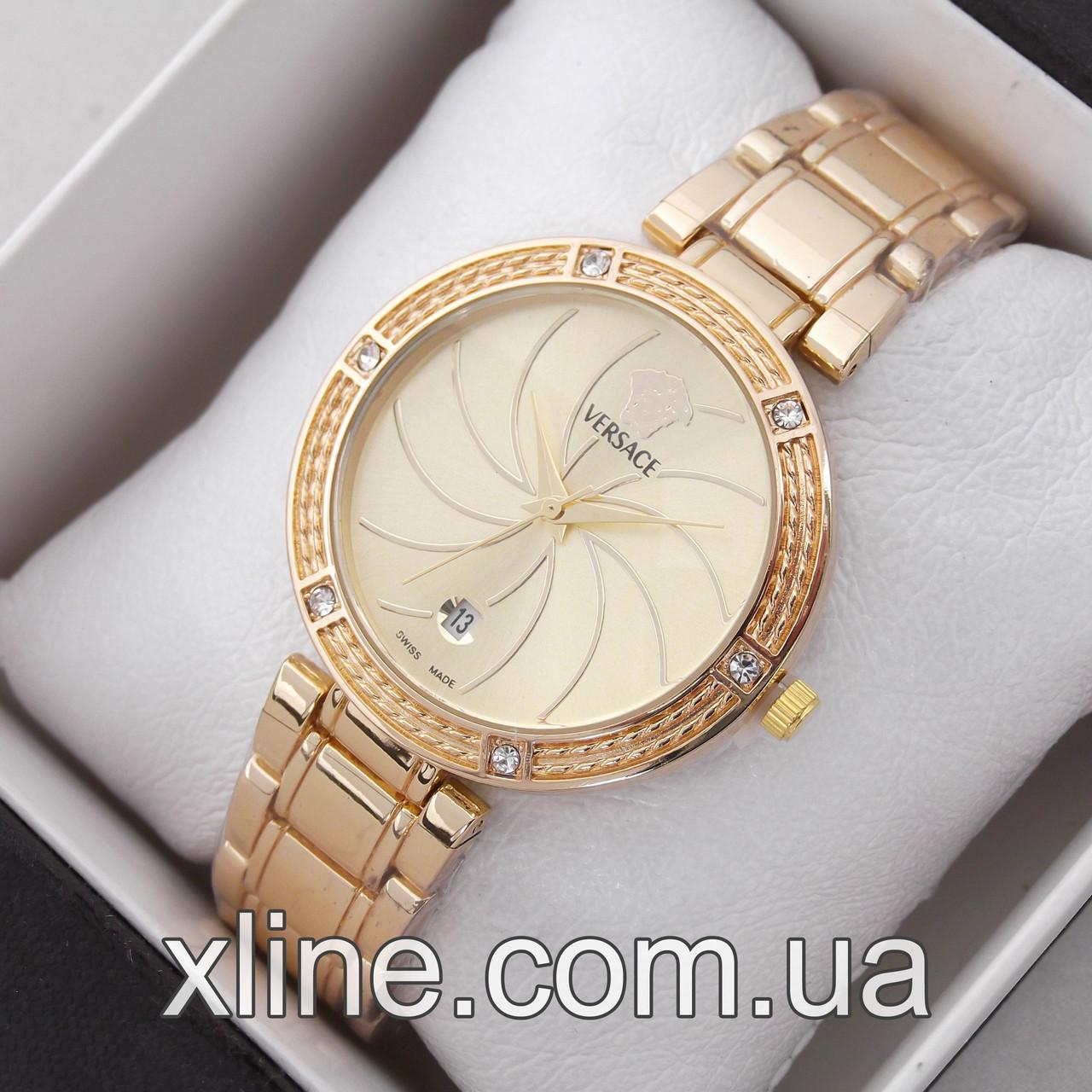 Жіночі наручні годинники Versace C29 на металевому браслеті