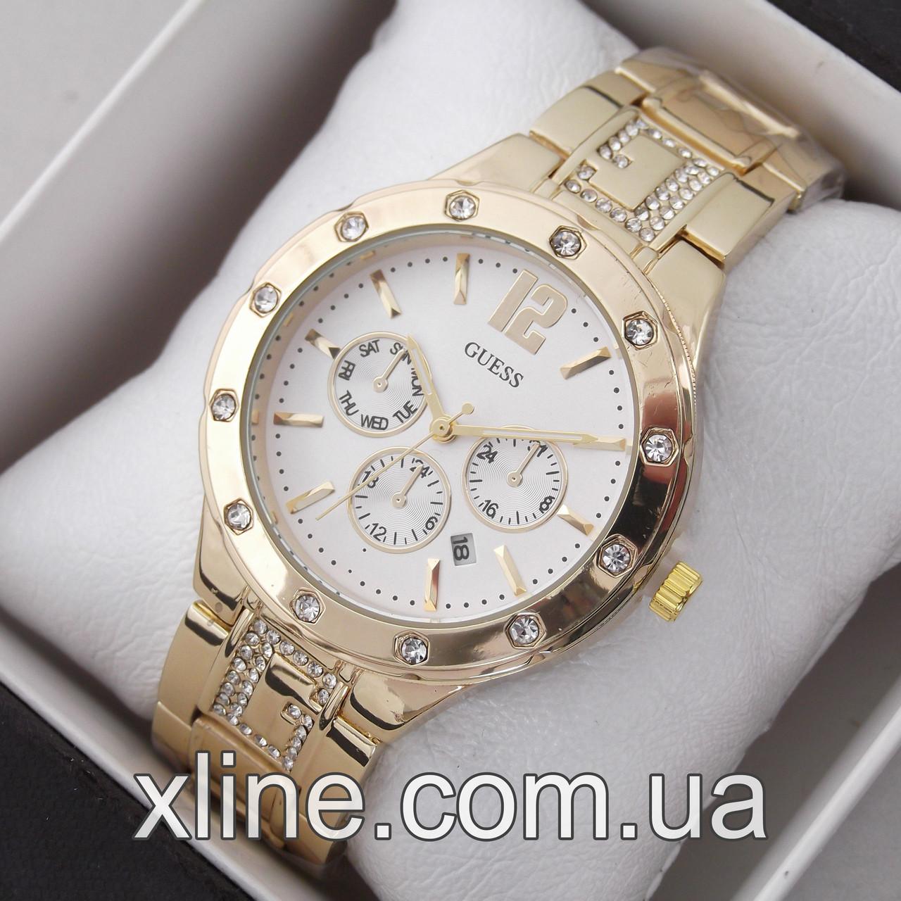 Жіночі наручні годинники Guess A43 на металевому браслеті