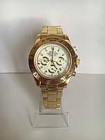 Чоловічі наручні годинники Rolex (Ролекс), золотисто-білий колір ( код: IBW186YO )