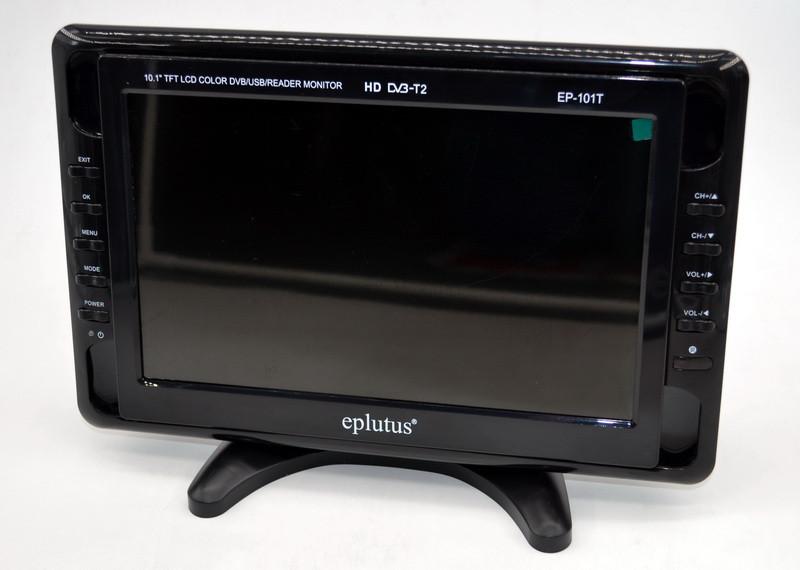 """Автомобильный телевизор с тюнером Т2 Eplutus EP-101T (10,1"""") видеодвойка телевизор для кухни гаража машини"""