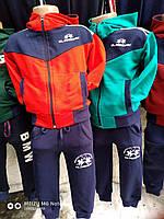 Спортивный костюм для мальчика на 2-6 лет красного, зеленого цвета c капюшоном с капюшоном оптом