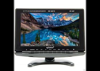 """Автомобільний портативний телевізор з DVB-T2 12"""" Eplutus EP-120T переносний в машину телевізор з тюнером"""