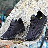 Мужские кроссовки сетка черные легкие и мягкие с адаптивной стелькой подошва пенка (Код: 1339а), фото 1
