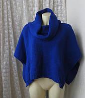 Свитер воротник синий фиолетовый яркий бренд River Island р. свободный 44-52, фото 1