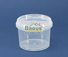Стакан 350мл из пищевого пластика круглый с крышкой (прозрачный)