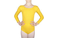 Купальник для танцев и гимнастики Dance&Sport 6028 желтый, хлопок