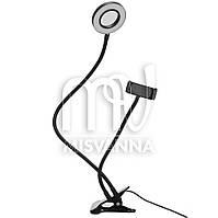 Настольная кольцевая LED лампа HY-0001 для фото и видео, маленькая d=9 см